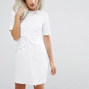 ASOS PETITIE mini skater dress with twist front
